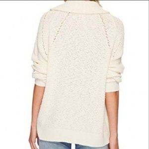 Free People Sweaters - NWT FREE PEOPLE CREAM BY YOUR SIDE COWL SWEATER